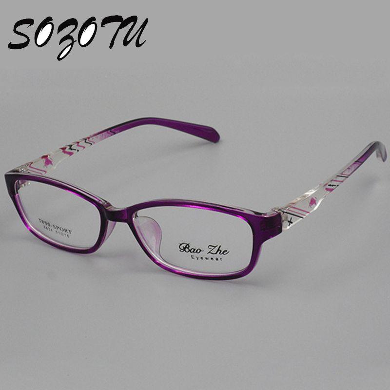 Optique Lunettes Cadre Femmes Monture de lunettes Ordinateur Lunettes Pour Femmes de Lentille Transparente Femelle Armacao de YQ065