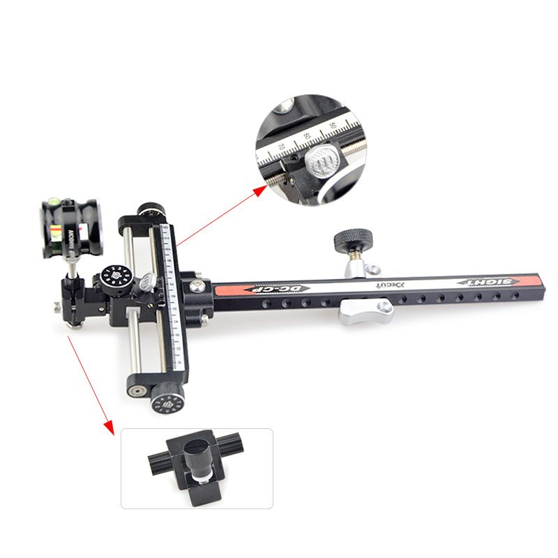 Len Magnification 6x/8x Archery Compound Bow Sight Adjustable Aluminum Archery Micro Bow Sight Compound Bow Hunting Accessories