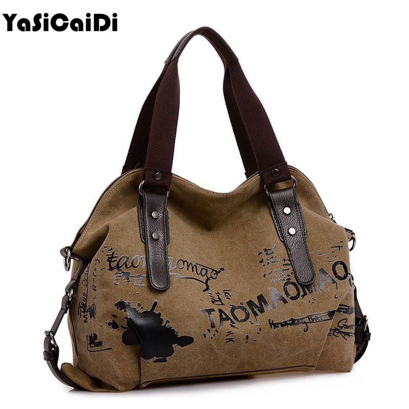 Vintage <font><b>Graffiti</b></font> Women's Bag Canvas Handbag Female Famous Designer Shoulder Bag Ladies Tote Fashion Large Sac a Main bolsos Muje