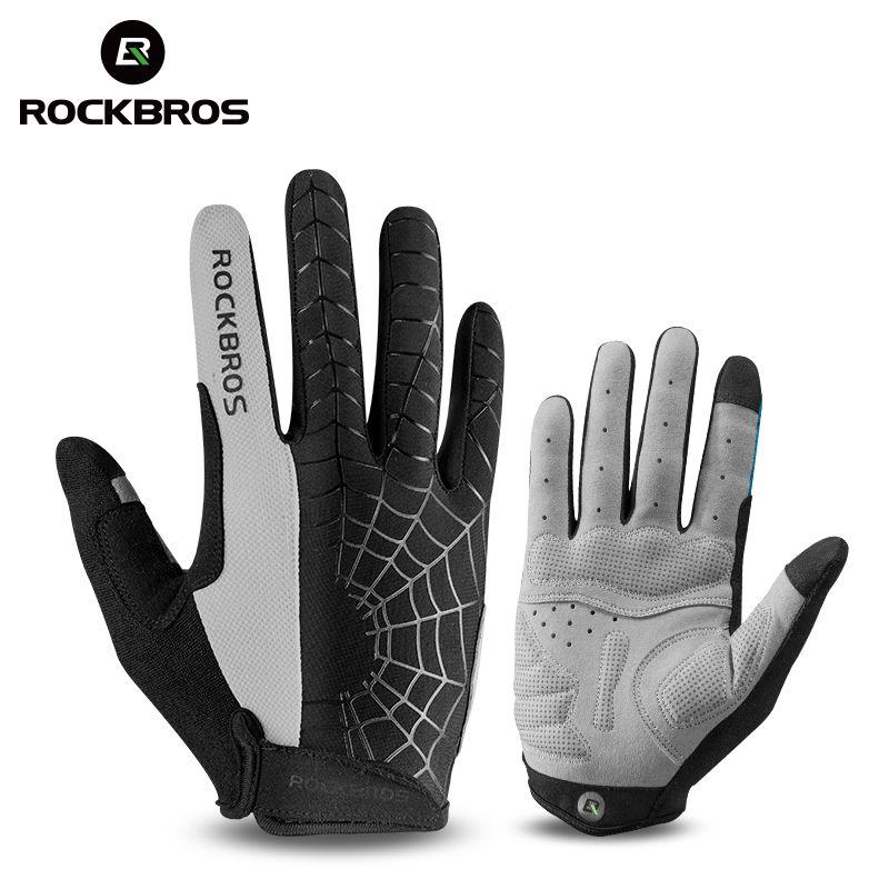 ROCKBROS coupe-vent gants de cyclisme écran tactile équitation vtt vélo vélo gant thermique chaud moto hiver automne hommes vêtements