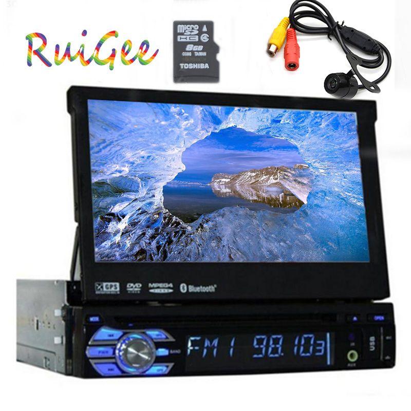 single 1 din radio car dvd player gps navigator tape recorder autoradio cassette player car radio steering wheel+car multimedia