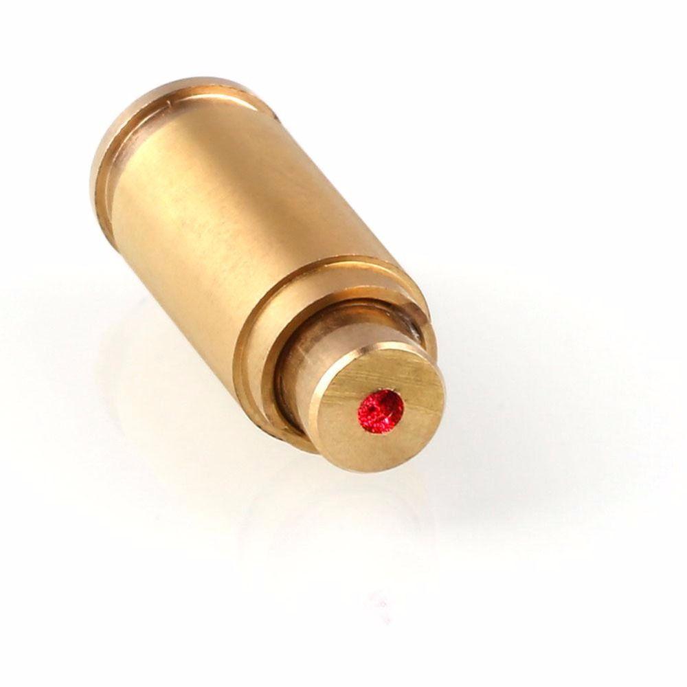 Taktische 9mm Red Dot Laser Schussprüfer Bore Sighter Kaliber Patrone Messing Mit 4 x Knopfzelle Für Jagd Schießen