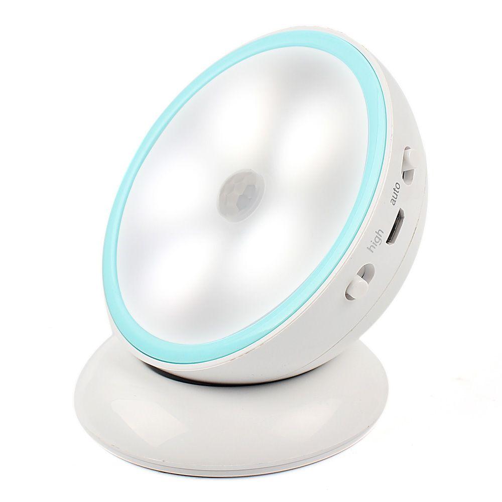 360 Degrés Tournent Intelligent LED Lumière de Nuit Corps Humain Capteur Lampe Magnétique Adsorption Couloir Armoire Mur Lampe