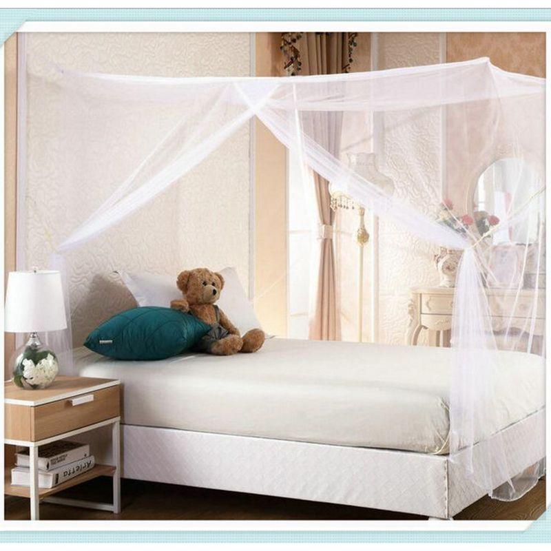 Moustiquaire insecte répulsif boîte forme voyage Camping maison lit simple Double haute qualité porte simple 90 cm/120 cm/150 cm/180 cm