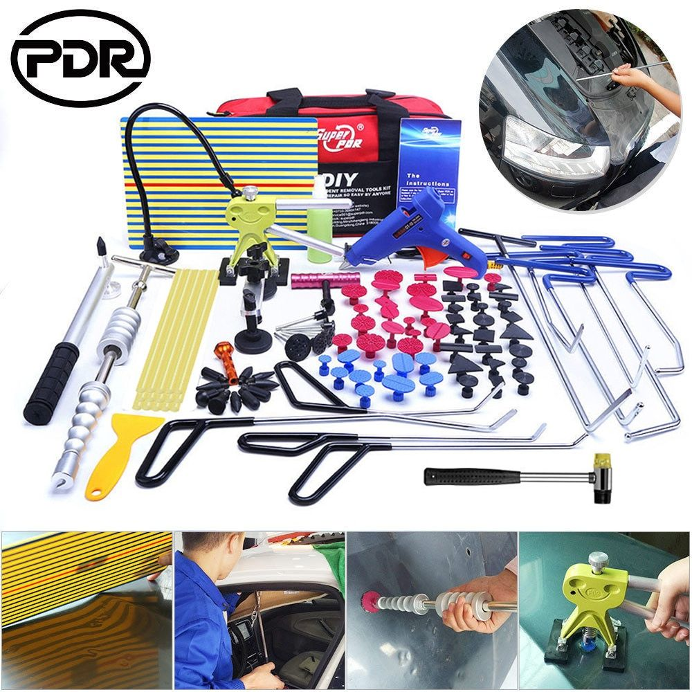 PDR Rods Hooks Tools Car Toolkit Dent Remover Auto Repair Body Hail Removal Door Ding Dent Damage Repair Very Popular Tool Kit