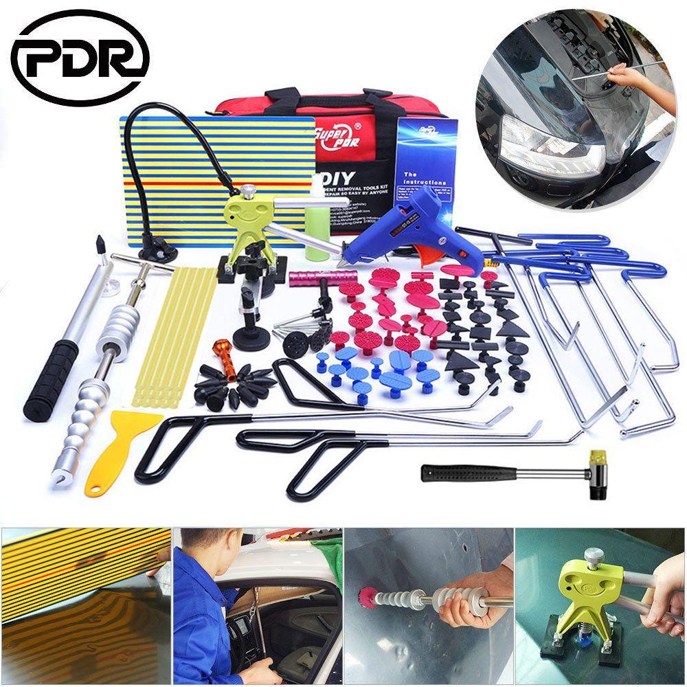 PDR Stangen Haken Werkzeuge Auto Toolkit Dent Remover Auto Reparatur Körper Hagel Entfernung Tür Ding Dent Schaden Reparatur Sehr Beliebt tool Kit