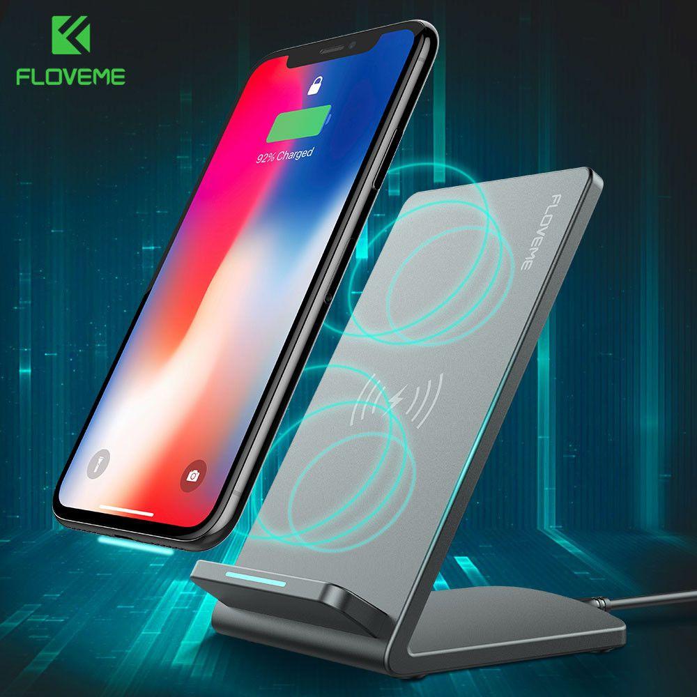 FLOVEME QI Sans Fil Chargeur Charging Dock Pour iPhone 8 8 Plus X Samsung S8 S8 Plus S7 S7 Bord S6 Note 8 5 Mobile Téléphone Chargeur