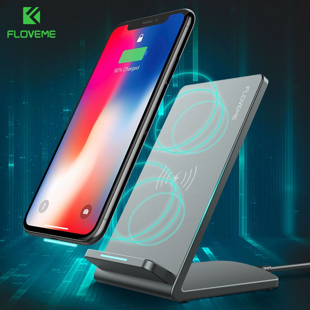 FLOVEME QI Wireless Charger Charging Dock For iPhone 8 8 Plus X Samsung S8 S8 Plus S7 S7 Edge S6 Note 8 5 Mobile Phone Charger