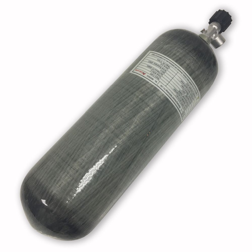 Acecare 3L CE carbon fiber cylinder with air valve
