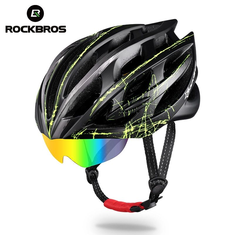 ROCKBROS Radfahren Helm 3 Objektiv Ultraleicht MTB Fahrrad Bike Motorrad Helm Männer Frauen Integral geformten EPS Fahrrad Zubehör