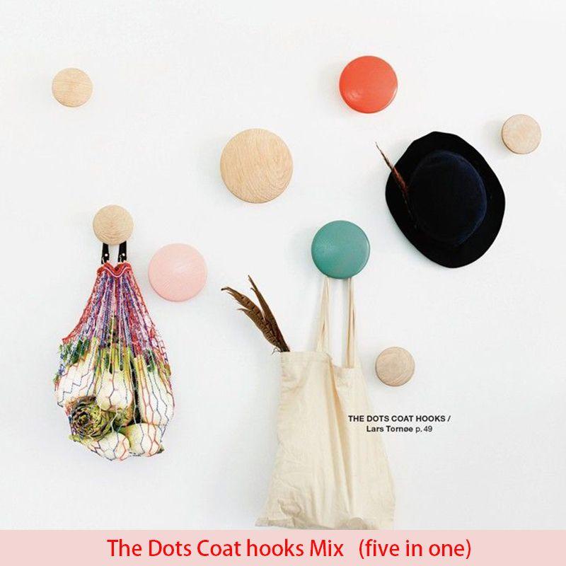 Вешалка напольная сумка вешалка настенная дерево Dots крюк стойки крюк точки пальто Крючки вешалка для одежды вешалка для модное пальто стой...