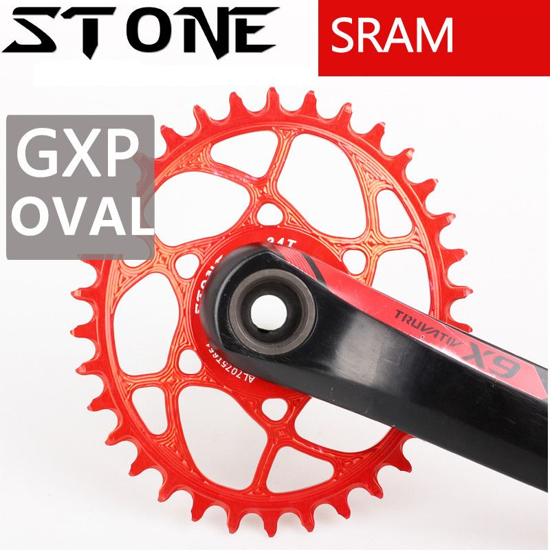 Stone GXP 6MM Offset Oval Chainring 30T 32/34/36/38T Bike Cycling Chainwheel Bicycle Tooth Plate for X9 X0 XX1 X01 Eagle