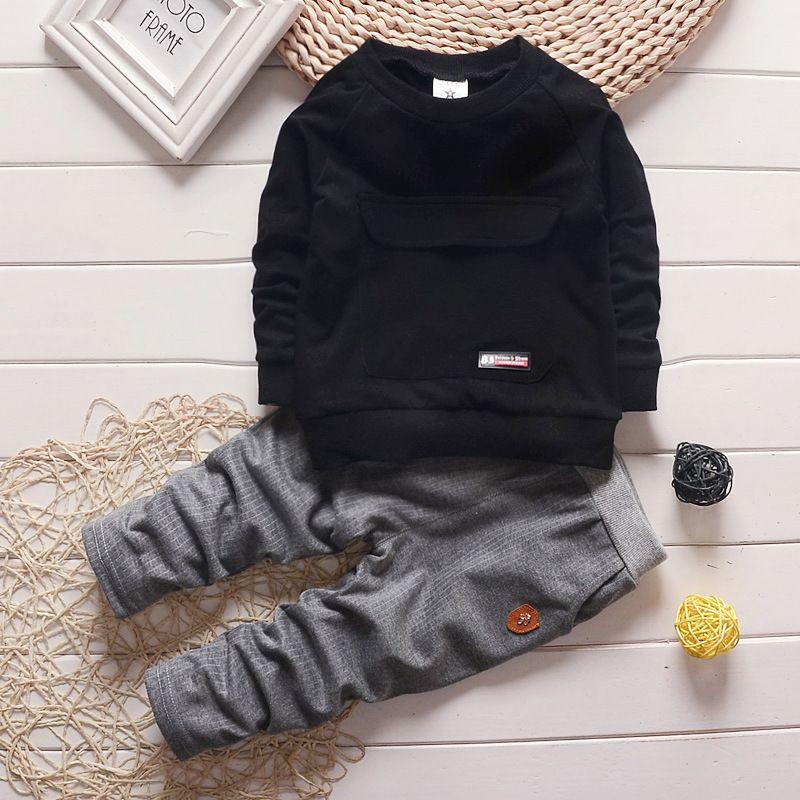2016 mode automne bébé garçon fille vêtements à manches longues haut + pantalon 2 pièces Sport costume bébé vêtements ensemble nouveau-né infantile vêtements