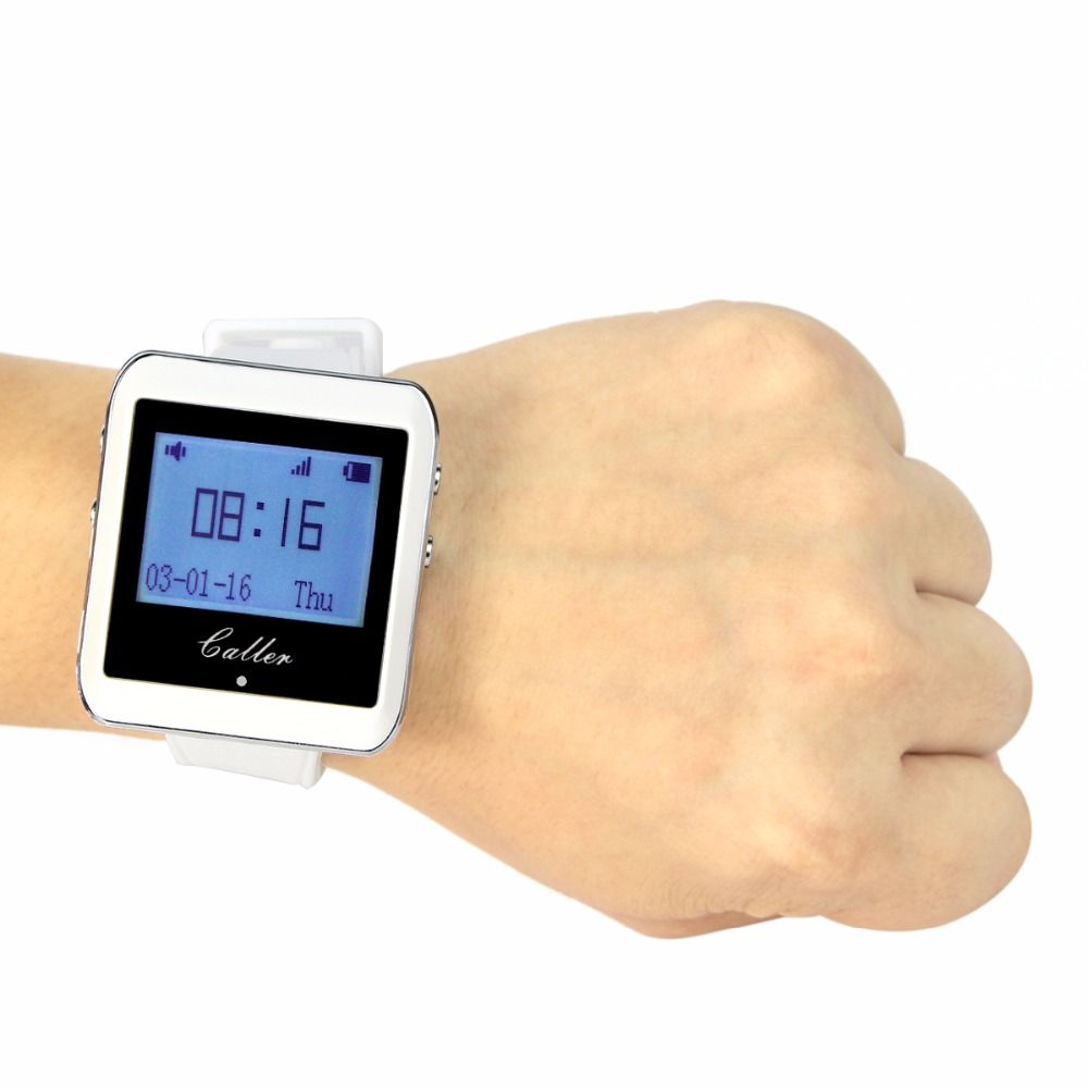 TIVDIO 433MHz Watch Receiver Wireless Calling System Waiter Call Pager Restaurant Equipment Catering Customer Service F3288