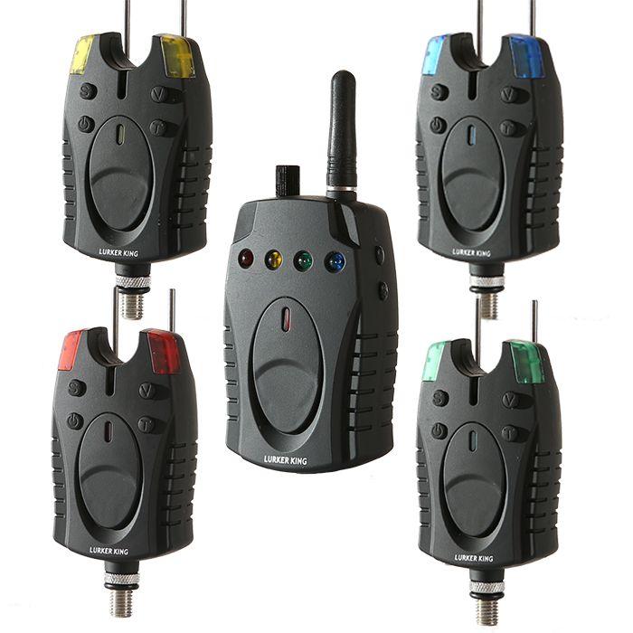 2017 neue Angeln Finder Set Angeln 4 + 1 Drahtlose karpfen köder angeln Elektronische Alarm Kit 4 Farbe LED Echolot Biss notwendig