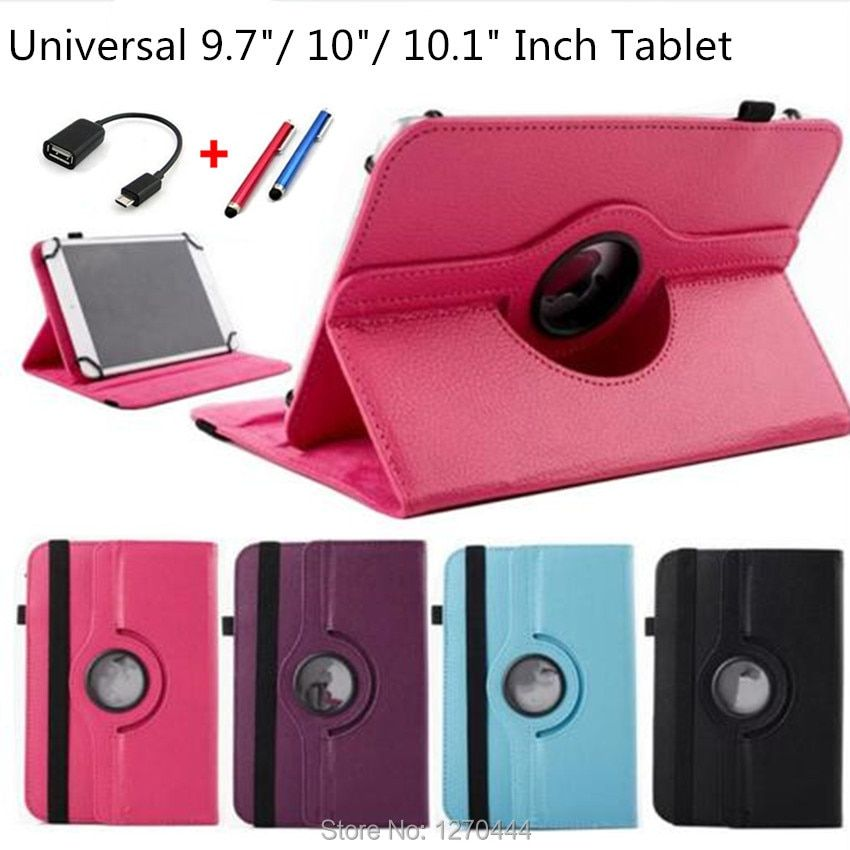360 Rotating Universal PU Leather Stand Cover For 10 inch Android Tablet Universal 9.7