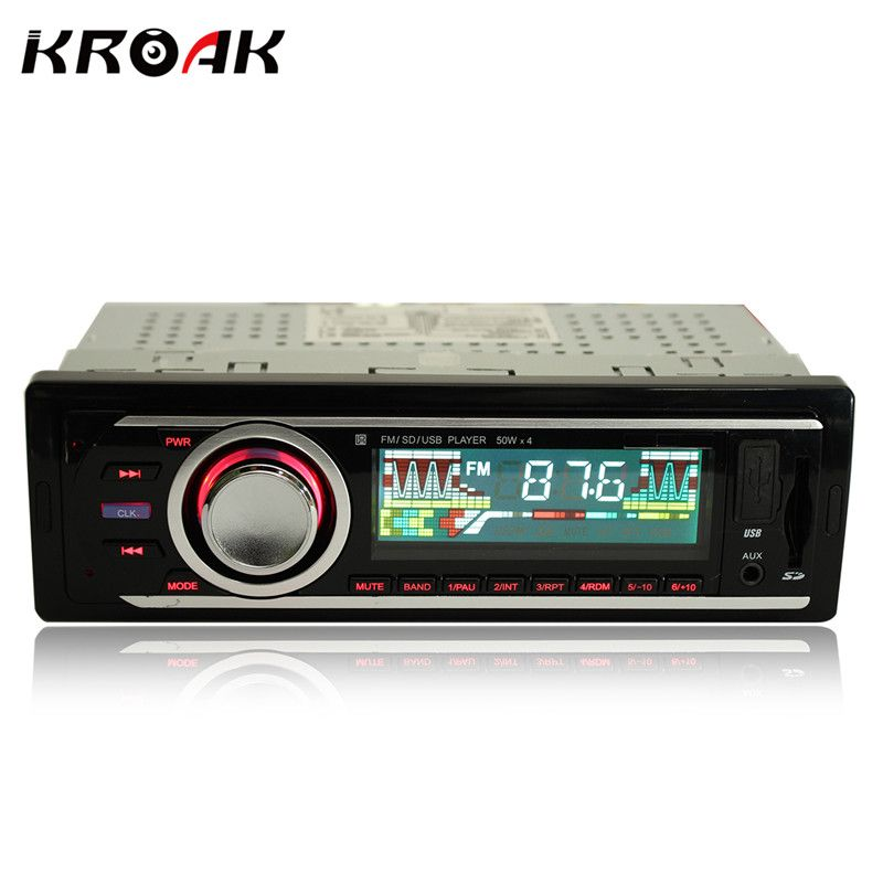 Car Radio 1 Din Stereo Audio MP3 Player 12V In-dash Single FM Receiver Aux Receiver USB SD Remote Control