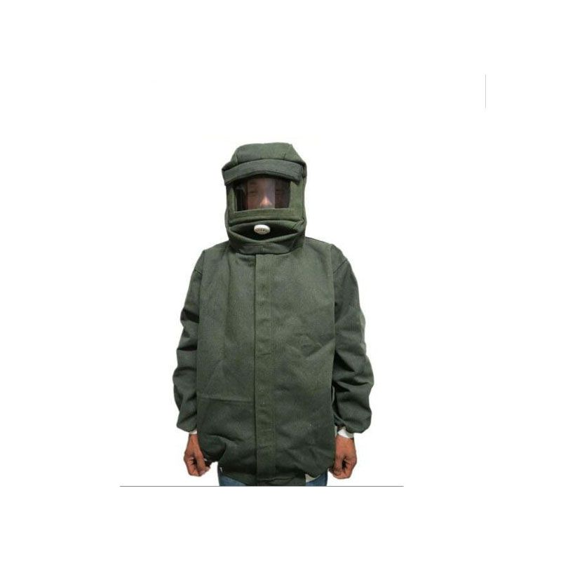 Sandblasting service paint sand clothing painted clothing canvas bunny suit protective clothing sand cap B81610