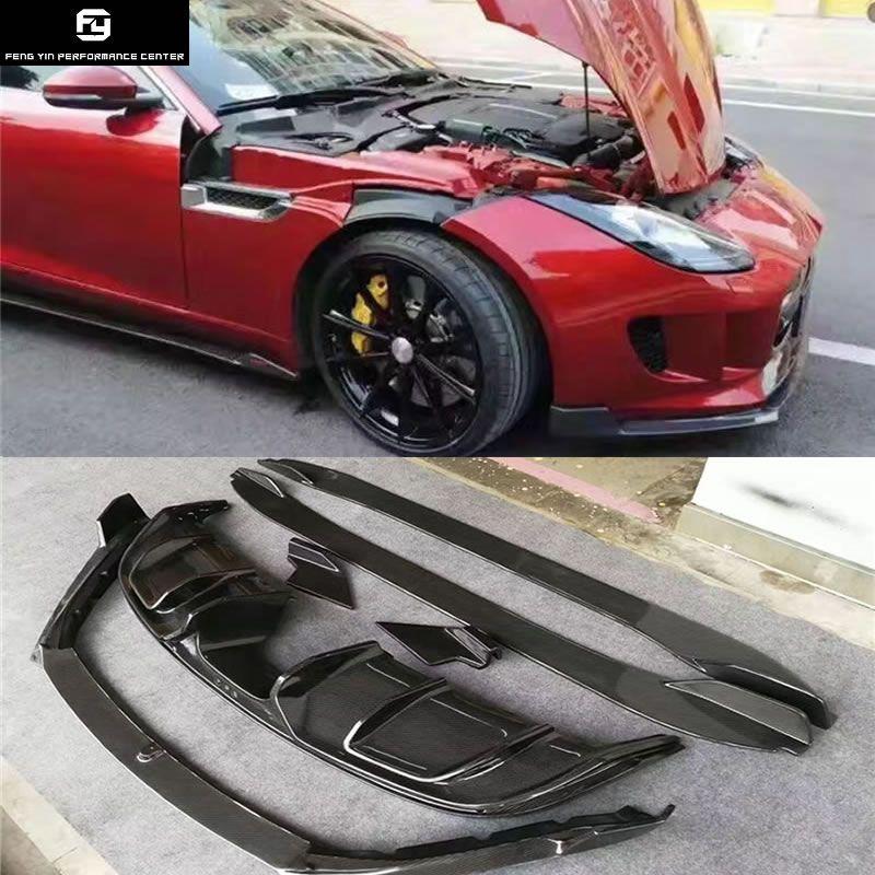 F-TYPE Carbon Faser heckschürze diffusor seite röcke frontschürze lip für Jaguar F-TYPE Auto Body Kits
