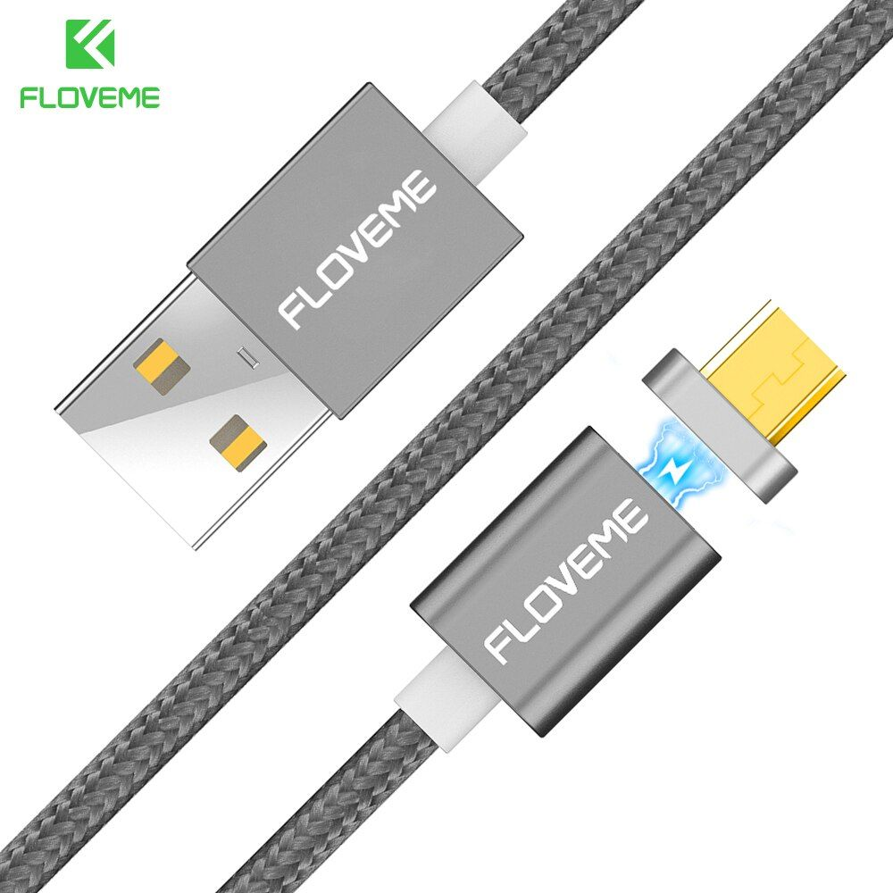 FLOVEME Magnetic USB Cable IOS Android Micro USB 2 in 1 Charger Cables For iPhone 7 6 6S Plus 5 5S SE For Samsung Huawei Cable