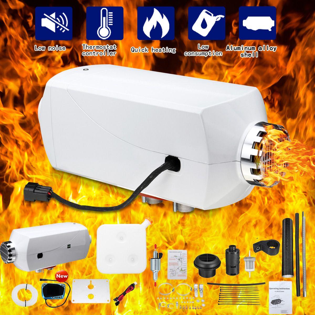12 v 5000 watt Metall Auto Diesels Air Standheizung LCD Monitor/Plateau Version Thermostat Schalldämpfer Lkw Boot RV wohnmobil Anhänger