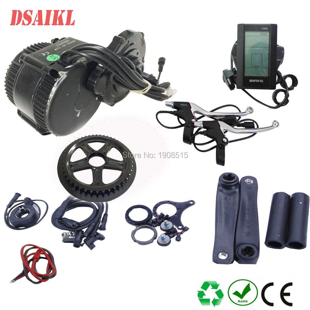 8fun/bafang BB 68MM 100MM 120MM motor 48v 750W C965 850C display BBS02b mid kurbel Motor eletric fahrrad kits