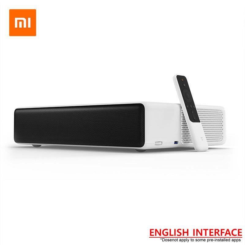 Original NEUE Xiaomi Mijia Laser Projektor TV 150 zoll Englisch Interface 4 karat Volle HD Uhr Fußball Fußball Mit DOLBY DTS 3D HDR