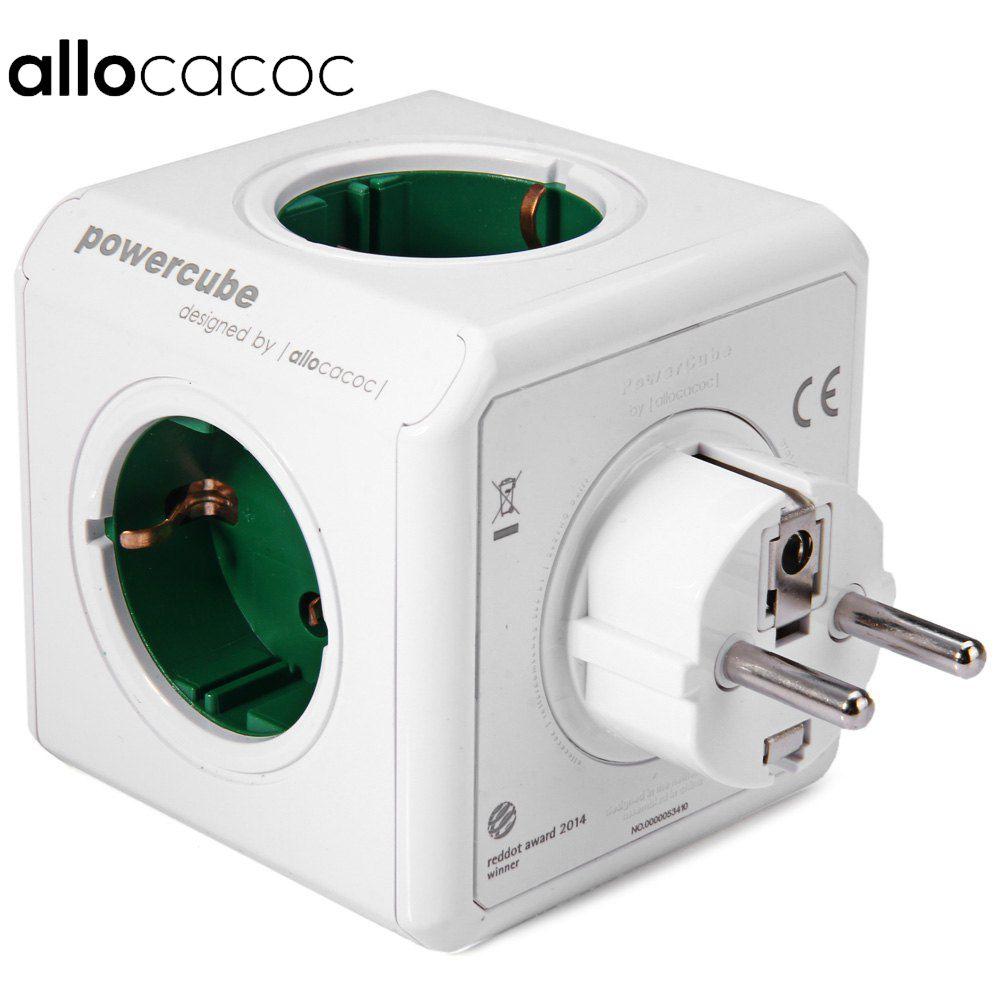 Allocacoc station de charge prise PowerCube d'origine prise EU 5 prises Adapter-16A 250V 3680w Cube de puissance