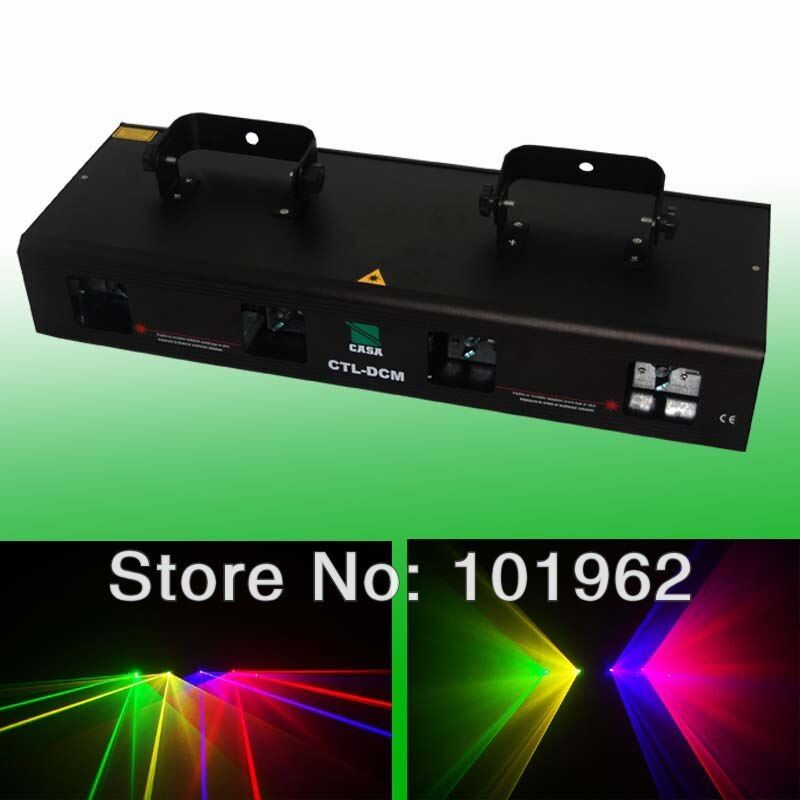 Wholesale High Quality 4 lens 360mW RGYV DMX Laser Projector Disco DJ Stage Party Lighting