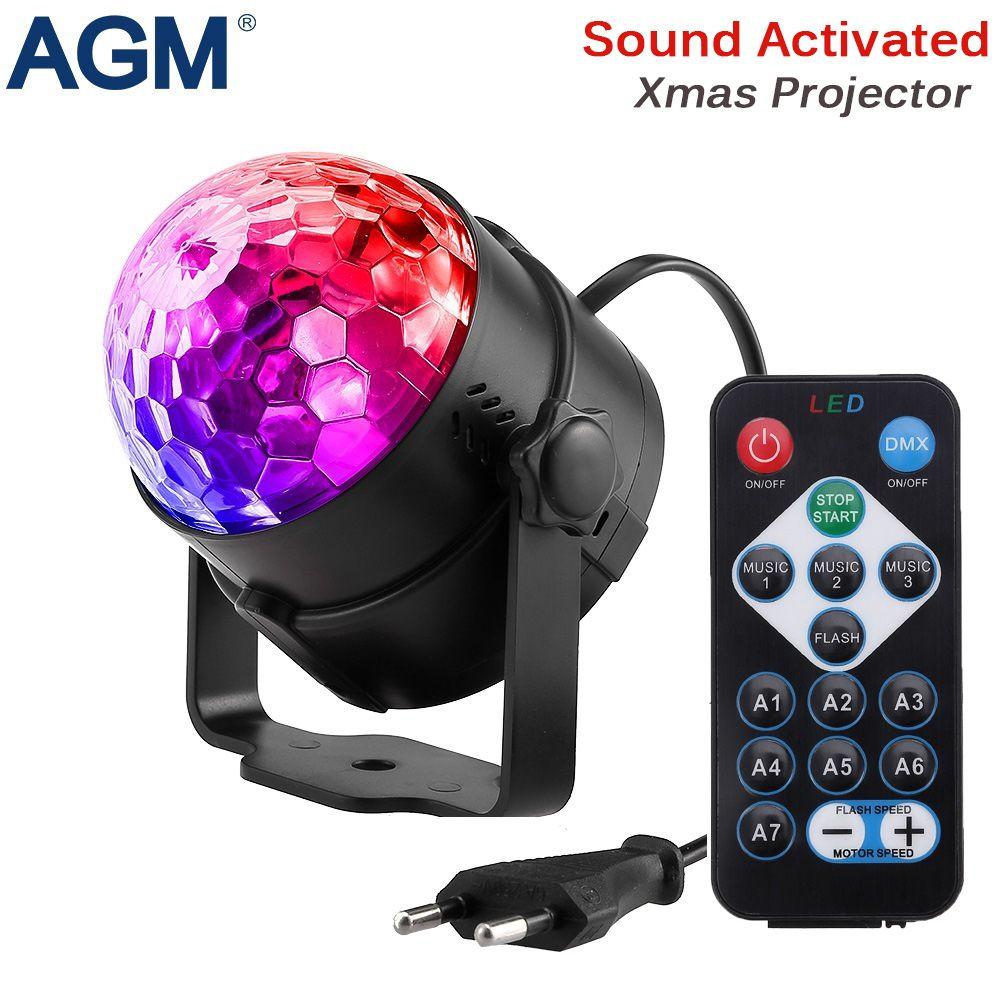 AGM Сценическое освещение хрустальный магический шар лампы свет этапа Дискотека DJ партии лазерный свет звук Управление DMX показать lumiere