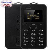Original AEKU C6 Mini Emergency Card Phone Phone With Backup Wallet Phone Ultrathin Student Version Credit Card Bluetooth