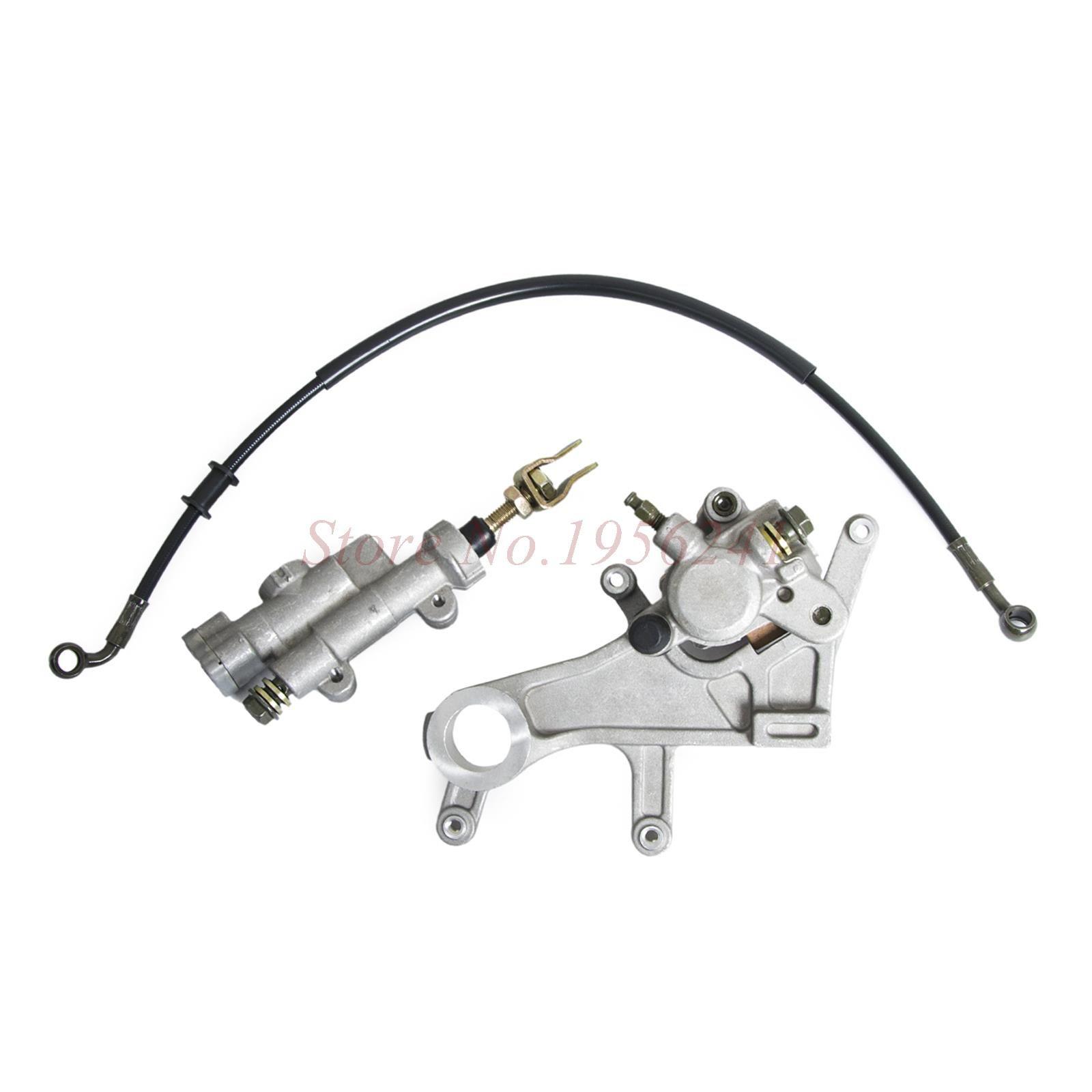 Rear Brake Caliper Master Cylinder & Pads & Brake Oil Hose Pipe For Honda CRF450R 2002-2016 CRF450X 2005 2006 & 08 09 & 12-16