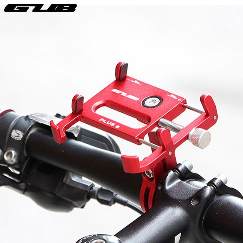 GUB Plus 9 support de téléphone pour guidon de vélo installer 55-100 largeur ajuster 360 degrés Rotation alliage support CNC anodisé support