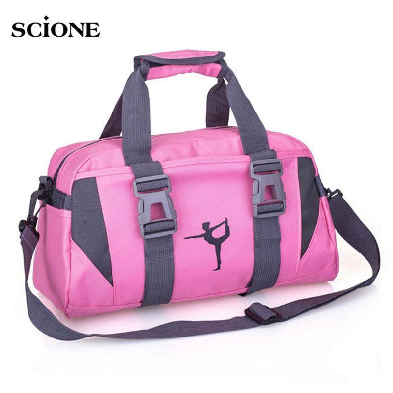 Yoga Fitness Bag Waterproof Nylon Training Shoulder Crossbody Sport Bag For Women Fitness Travel Duffel Clothes Gym Bags XA55WA