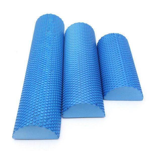 30cm/45cm/60cm fitness Half Round EVA foam Yoga roller Pilates yoga block fitness Rollers with trigger points For bodybuilding