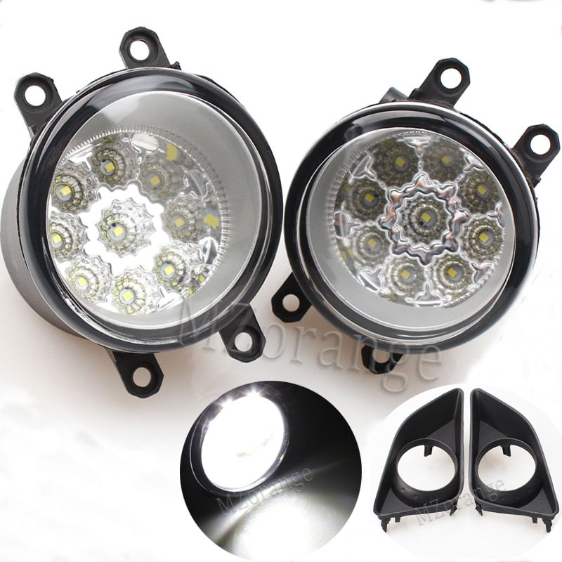2 pieces Fog Lamp Assembly Super Bright Fog Light For TOYOTA AVENSIS AURIS RAV 4 III CAMRY Corolla PRIUS YARIS 2003-2015 Led