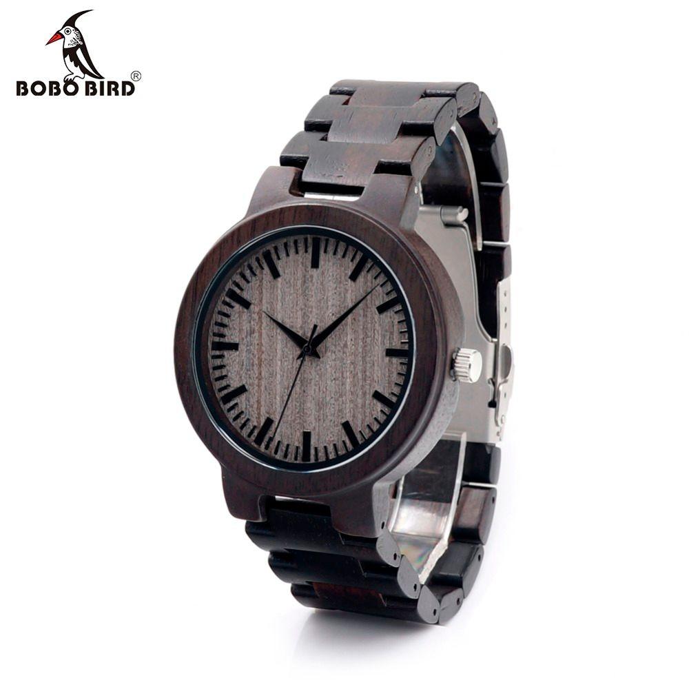 Bobobird C30 эбенового дерева Часы для мужские Часы лучший бренд класса люкс Повседневные часы с подарочной коробке