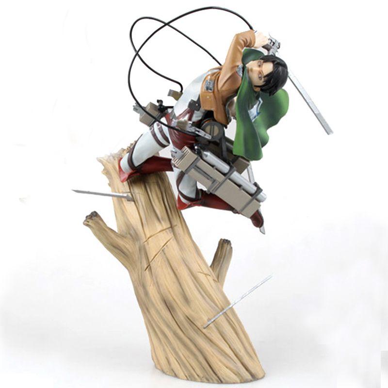 New Kotobukiya Angriff Auf Titan Shingeki Kein Kyojin Scouting Legion Levi PVC Action Figure Modell Spielzeug Geschenk Mit Box Freies verschiffen