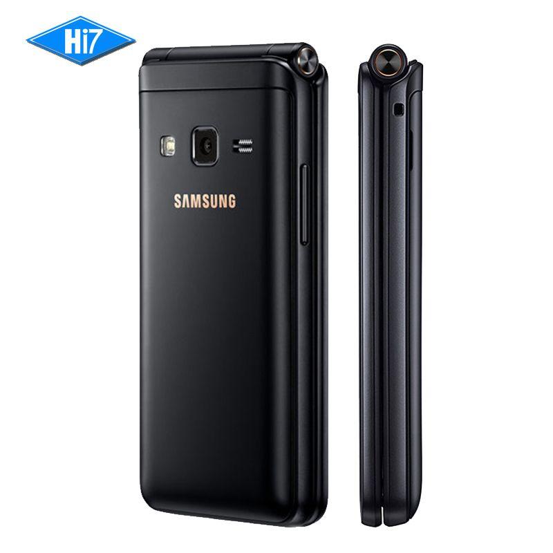 New Original Samsung Galaxy Folder 2 G1650 Dual SIM 16GB ROM 2GB RAM <font><b>Quad</b></font> Core 8.0MP 3.8 Flip SmartPhone 4G LTE Mobile Phone