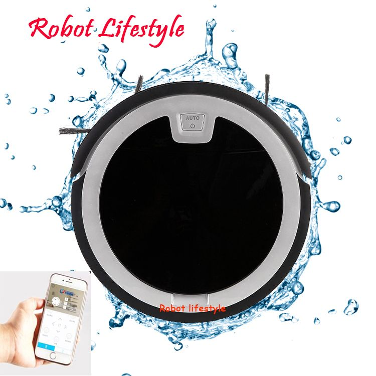 New 5.6cm wet dry mobile APP remote control wifi function automatic vaccum cleaner robot