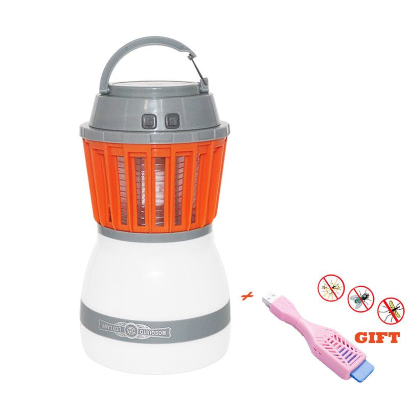 2in1 Portable USB Charging LED Camping Light Waterproof Mosquito Killer Lamp Pest Repeller 2000mAh Rechargeable Battery & GIFT