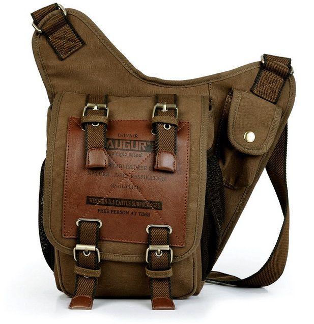 Offres spéciales KAUKKO marque rétro Vintage sac en toile voyage hommes sac Messenger homme sacs à bandoulière sacs à bandoulière pour hommes