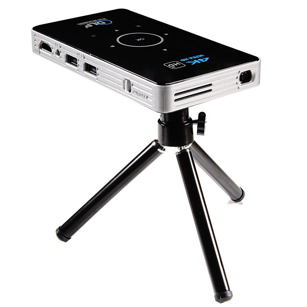C6 Mini 4 karat DLP Android Projektor 2,4g 5,8g Wifi Bluetooth 4,0 Tragbare LED Video Projektor Heimkino unterstützung Miracast Airplay