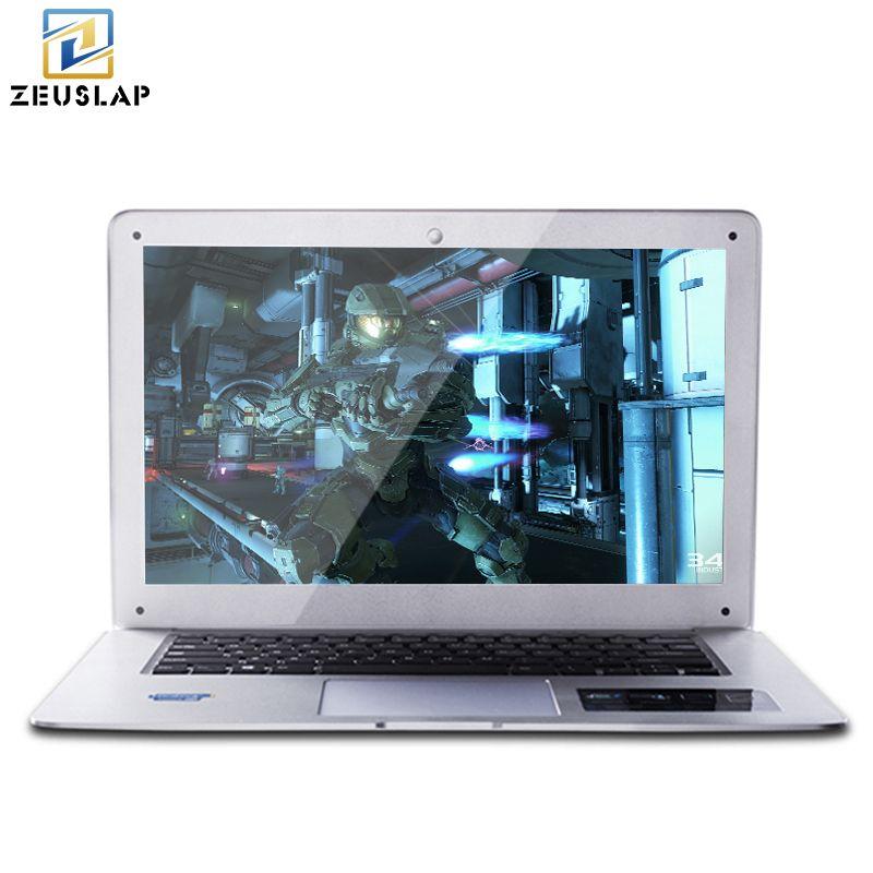 ZEUSLAP-A8 14 pouces 8 GB RAM + 500 GB HDD Windows 10 Système 1920X1080 P FHD Intel Quad Core Ordinateur Portable Ordinateur portable