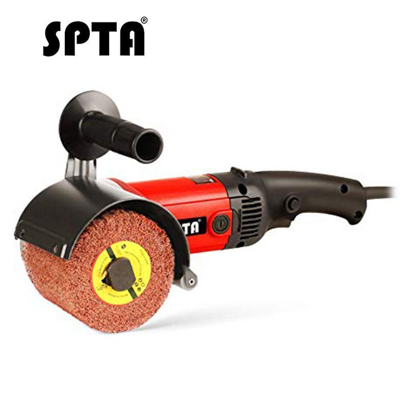 SPTA 1200W brunissage Mini Machine à polir roue de ponçage Set voiture polisseuse ponceuse meuleuse métal acier inoxydable polonais 110 230V
