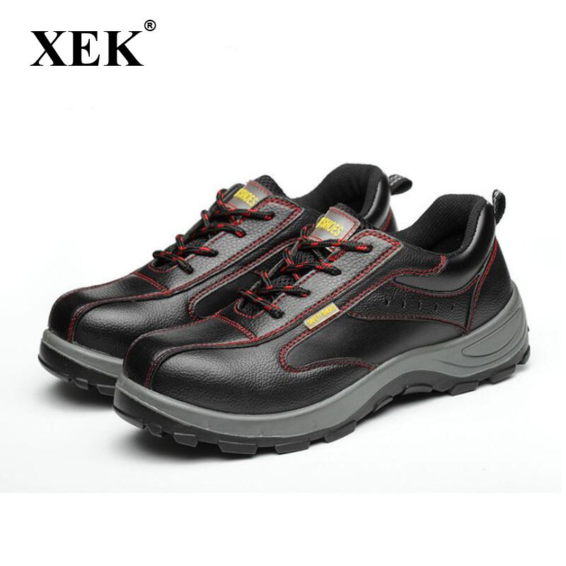 XEK Winter Men Work Safety Shoes Steel Toe Warm Breathable Men's Casual Boots Puncture Proof Labor Insurance Shoes wyq10