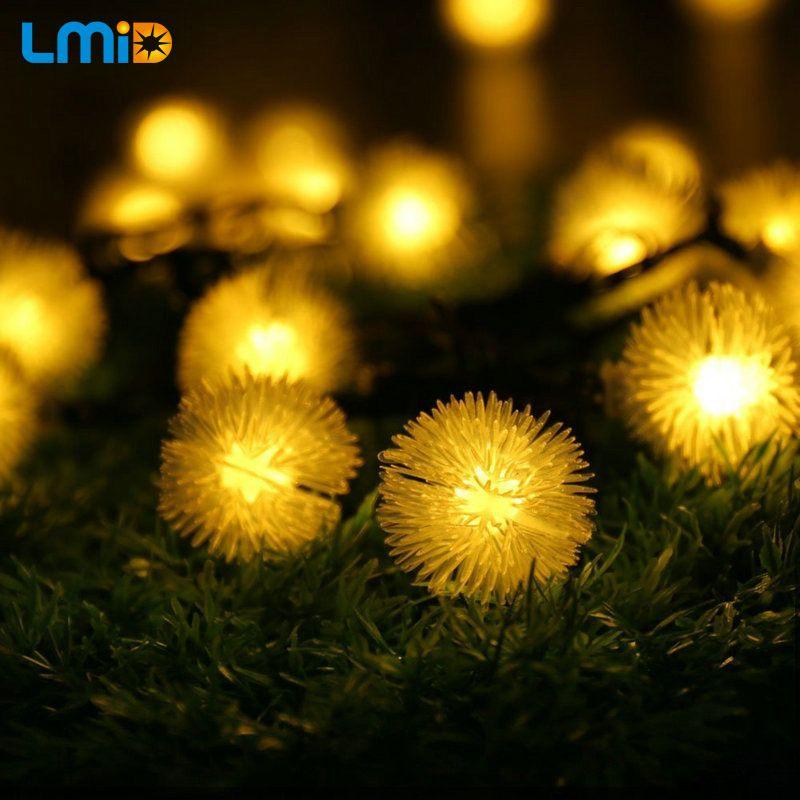 Lámparas Solares al aire libre 4.8 M 20 Led Solar Powered Luces de Copo de Nieve de Hadas Solar para el Jardín Al Aire Libre Decoración de Vacaciones de Navidad