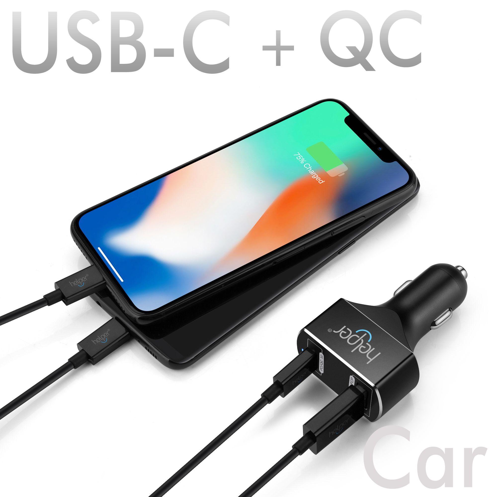 5 V 20 V USB C PD chargeur de voiture avec La Livraison de Puissance 45 W charge rapide 3.0 USB-C 18 W QC3.0 USB chargeur de voiture adaptateur pour ordinateur portable Portable