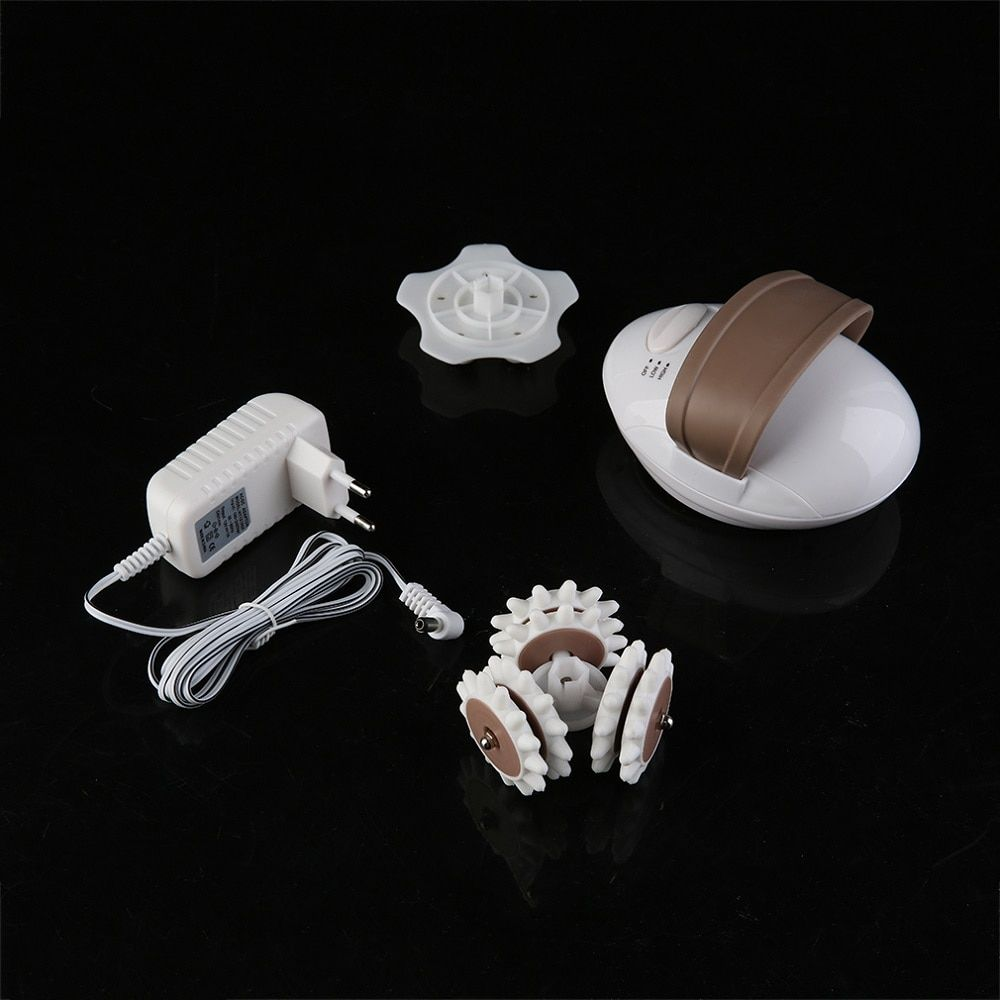 Pro Face Body Fat Burning 3D Mini Facial Kneading Massage Roller Electric Anti-Cellulite Control System Massager Body Slimmer