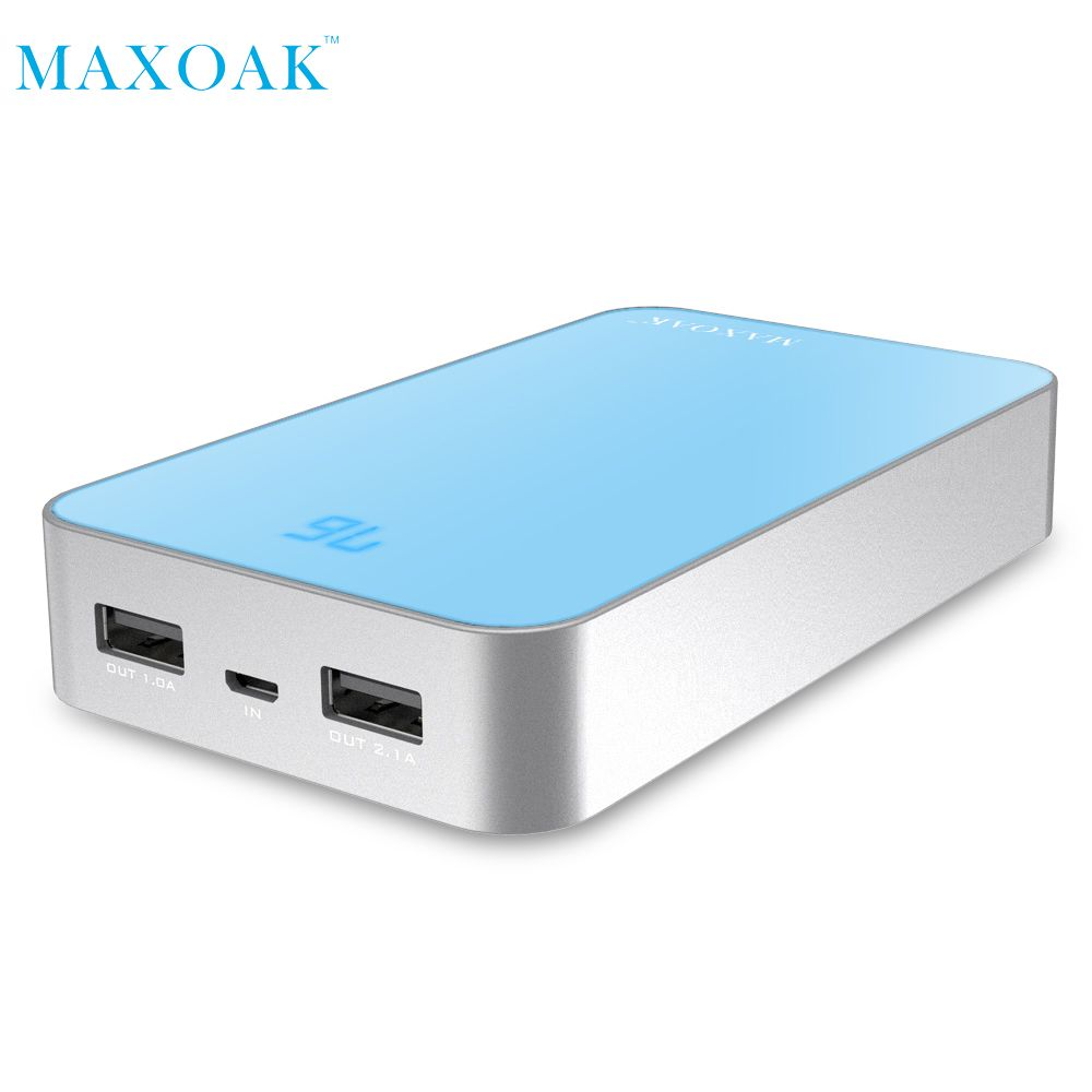 MAXOAK 13000 mAh Double USB De Charge Power Bank Batterie Externe Chargeur Portable PowerBank pour téléphone Mobile